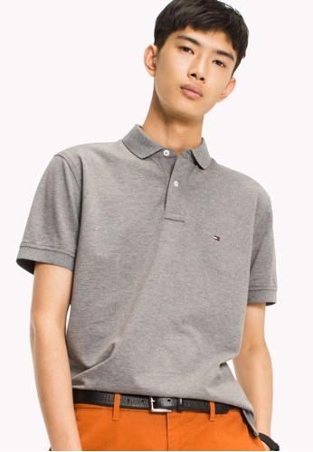 Tommy Hilfiger silver TOMMY REGULAR POLO 8B6A5AAD814D4DGS_1