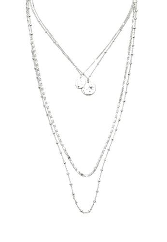 Pieces silver Pcjulli Combi Necklace 94E93AC69606BDGS_1