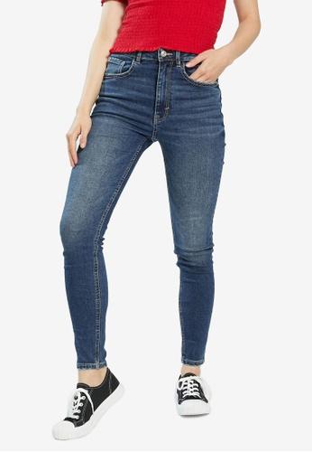 PIMKIE blue Wash Skinny Jeans A91E3AAEDCE7B8GS_1