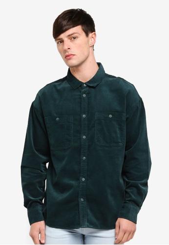 Cotton On 綠色 Long Sleeve Workwear Shirt 58BF5AAEE83607GS_1