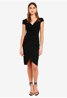 ea7206fabb 30% OFF Goddiva Front Pleat Tulip Midi Dress RM 209.00 NOW RM 145.90 Sizes  8 12 14 16