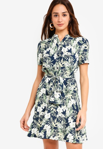 ZALORA multi Dropped Waist Dress D915EAAE4E3F70GS_1