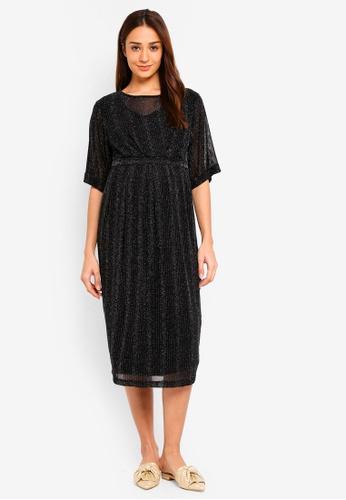 JoJo Maman Bébé black Maternity & Nursing Sparkle Dress FAF89AAE1AE389GS_1