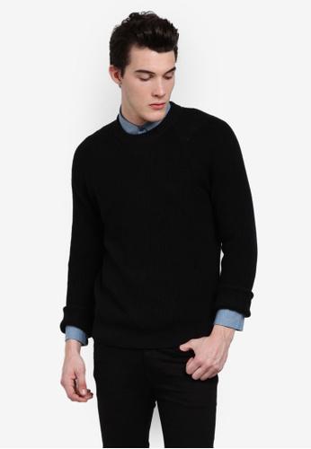 Calvin Klein black Spotton Crew Neck Jumper - Calvin Klein Jeans CA221AA0RGFMMY_1