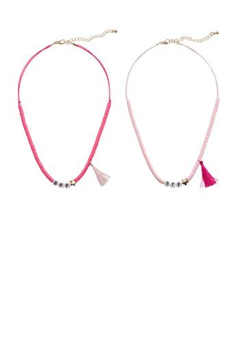 MANGO KIDS pink Best Friends Necklaces Set 14614KC662F57AGS_1