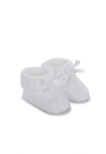 RAISING LITTLE white Bowie Knitted Booties F90F6KS8FB6B65GS_1