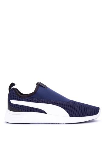 Puma blue St Trainer Evo Slip On V2 Shoes PU758SH0KIZWPH_1