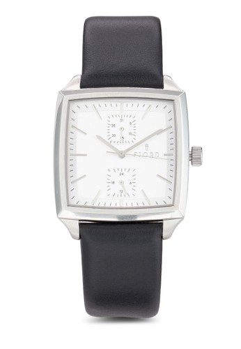 Fiesprit 台中nn 副錶盤方框手錶, 錶類, 飾品配件