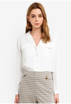 09090d31072 Miss Selfridge white Ivory Utility Pocket Shirt FB4EAAAE1F0702GS_1