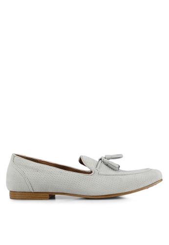 Topman grey Grey Faux Suede Tassel Loafers TO413SH0S7YSMY_1