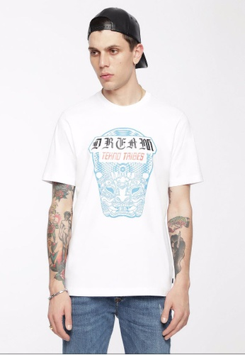 Diesel white T-Just-Wn Tshirt EAB43AA867B327GS_1