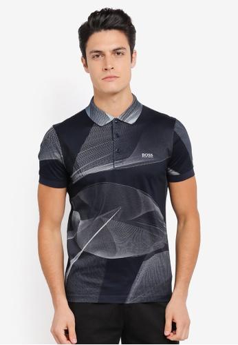 BOSS 海軍藍色 Paule 5 Polo Shirt - Boss Athleisure BO517AA0SRB0MY_1