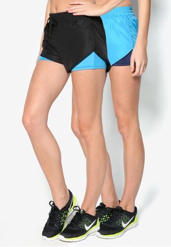 二入色塊運動短zalora taiwan 時尚購物網鞋子褲, 服飾, 服飾