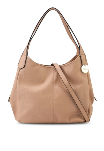 Mel&Co beige Faux Leather Double Handle Bag E72A8ACC7F0251GS_1