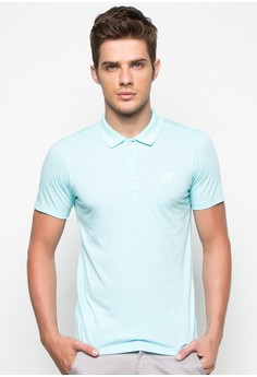 S/S Mens Basic Polo Tee with Contrast