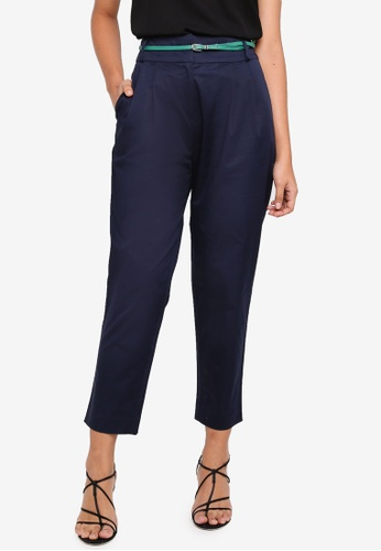 ESPRIT navy Woven Cropped Pants 1912EAA6B46A38GS_1