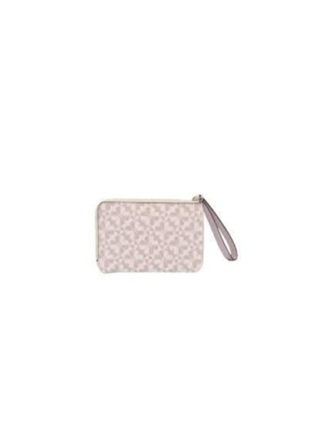 KATE SPADE 粉紅色 Kate Spade Small Hollie Spade Clover Geo WLRU5980 L-Zip Wristlet Pink Multi 4F4D3ACFBB1C42GS_1