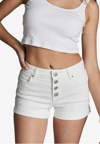 Cotton On white Mid Rise Classic Stretch Denim Shor 13C98AAD7C308BGS_1