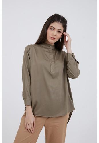 Berrybenka Label green Sophie Brenda Basic Shirt Light Olive 08CDEAA37BB7D7GS_1