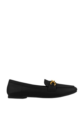 CO BLANC black CO BLANC Loafers with Twisted Buckle 9D6D2SHE065305GS_1