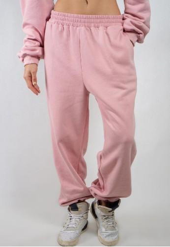 Ocwa Studio pink OCWA BASIC SWEATPANTS BABY PINK 12702AA2E10029GS_1