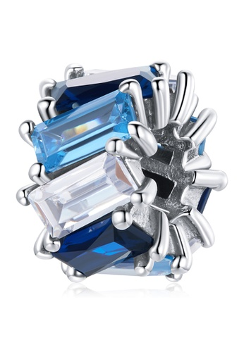 925 Signature silver 925 SIGNATURE Solid 925 Sterling Silver Gradient Blue Baguette Crystals Pandora Inspired Charm 1A311AC2700346GS_1