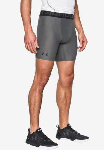Under Armour grey Heat Gear Armour 2.0 Compression Shorts UN337AA72VFFMY_1