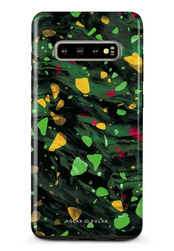 Polar Polar green Malachite Terrazzo Gem Dual-Layer Tough Case Glossy For Samsung Galaxy S10 Plus 6B9F1ACABE8FD0GS_1