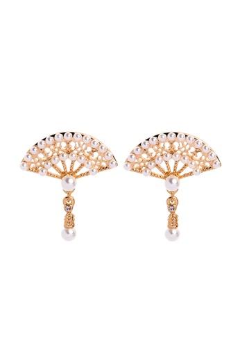 Sunnydaysweety gold Lady Fan Earring C071515 8B858AC6F6FF56GS_1