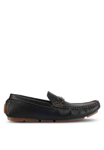 UniqTee black Driving Moccasin With Buckle 9C4D2SH10AAC3FGS_1
