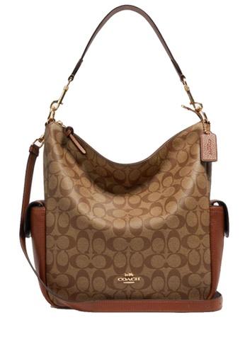 COACH brown COACH Pennie Shoulder Bag In Signature Canvas F563EACCBE14ADGS_1
