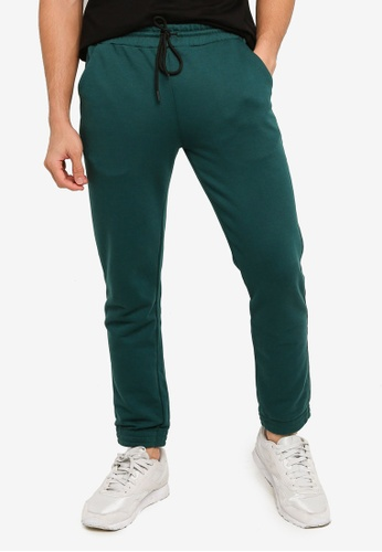 UniqTee green Solid Drawstring Sweatpants 94551AA9354EEDGS_1