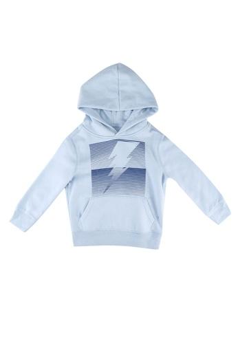 GAP blue Kids Gap Logo Pullover Hoodie B214EKA59D0455GS_1