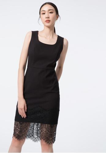 iROO black Wrap Dress 6D6AEAAC57A9E2GS_1