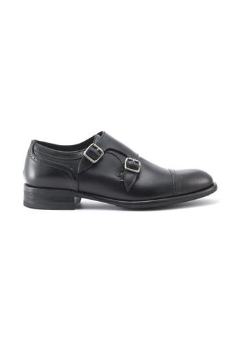 Gay Giano 黑色 黑色小牛皮僧侶鞋 690A7SH77B8B57GS_1