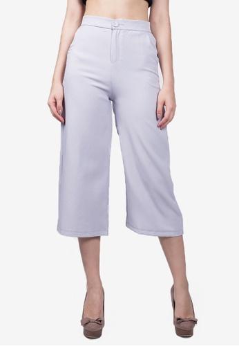 Caoros grey High Waist Culottes CC79CAAD1059A2GS_1