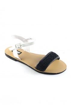 Habi Footwear Luxe Women's Kiss '15 Sandals - Black/White