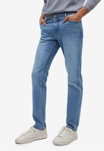 MANGO Man blue Slim Fit Medium Wash Jan Jeans E484BAA00482B9GS_1