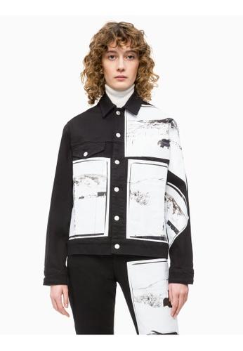 zuverlässiger Ruf Kostenloser Versand billiger Verkauf Calvin Klein Andy Warhol Denim Trucker Jacket