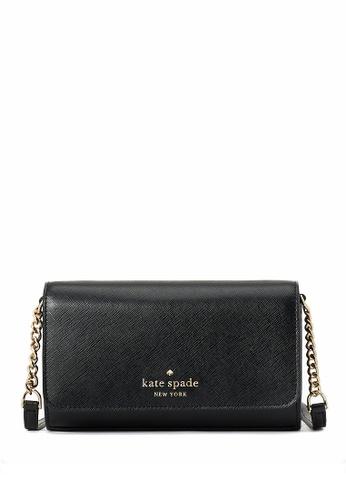 Kate Spade black Kate Spade Staci Small Flap Crossbody Bag - Black EA045AC5B84FDBGS_1