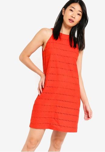 Something Borrowed orange Cotton Eyelet Cut In Shift Dress D6A8FAA317D74CGS_1