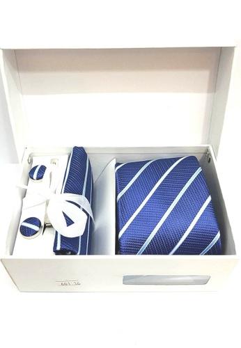 5 Pieces Set Gift Box Business Formal Necktie Handkerchief Cufflink Men S Tie 601 16