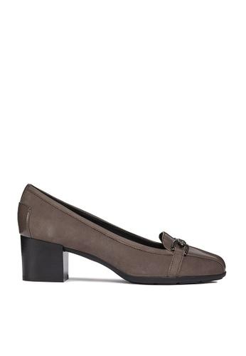Geox brown Annya Mid Heels Shoe F487ESH7299E68GS_1