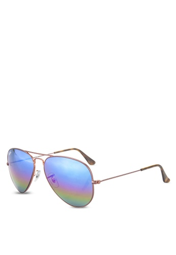 Ray-Ban brown Aviator Large Metal RB3025 Sunglasses RA896GL11GQUMY_1