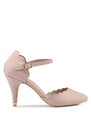 Dorothy Perkins pink Nude Erin Court Shoes E7D3FSH82BC65FGS_1