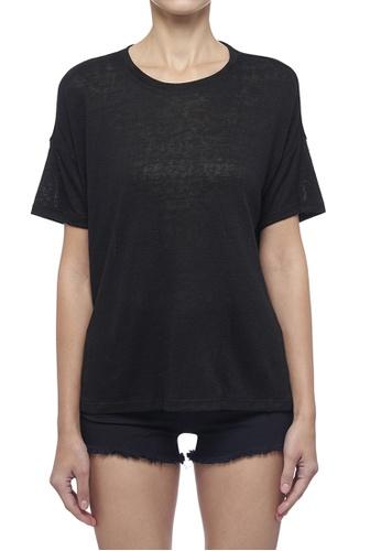 DKNY black DKNY Women Oversized Crew Neck Top EA7BDAA98F5F73GS_1