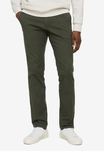 MANGO Man 綠色 Slim Fit Serge Chino Trousers 03017AAD34A4ABGS_1
