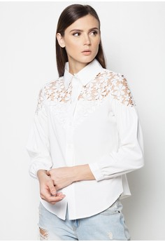Laced Longsleeves Blouse