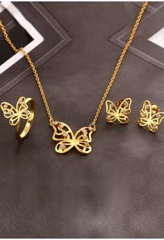 Savannah Butterfly Necklace & Earrings Set