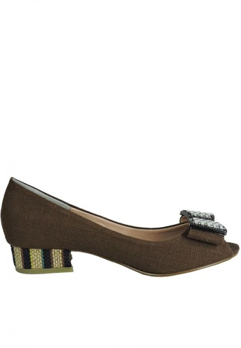 Jacque brown Heidi Brown Low Heels JA262SH61MGOMY_1